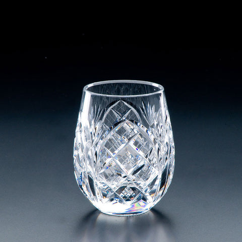 Heritage Irish Crystal: Cathedral 9oz Roly Poly Tumbler - Hibernian Gifts