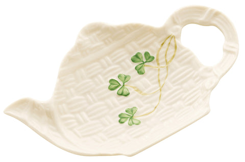 Belleek: Shamrock Spoon Holder - Hibernian Gifts