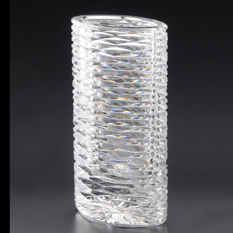 Heritage Irish Crystal: Cricklewood Oval Vase (11in) - Hibernian Gifts