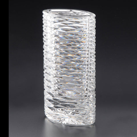 Heritage Irish Crystal: Cricklewood Oval Vase (9in) - Hibernian Gifts
