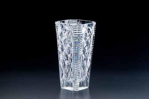Heritage Irish Crystal: Cathedral 9 inch Octagonal Vase - Hibernian Gifts