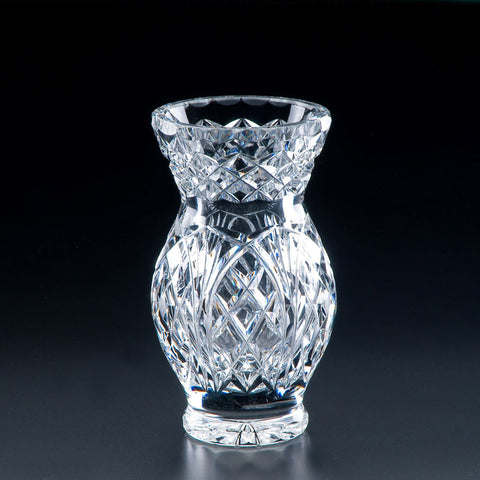 Heritage Irish Crystal: Classic Oak Vase (7in) - Hibernian Gifts