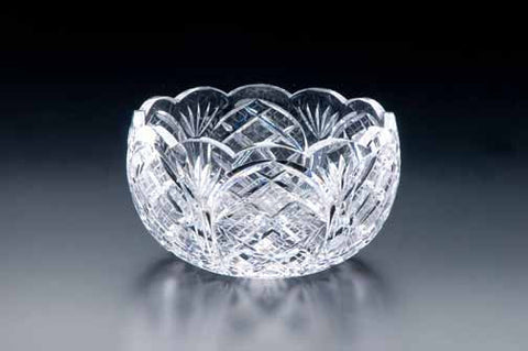 "Heritage Irish Crystal: Bowl Scalloped 8"" - Hibernian Gifts"