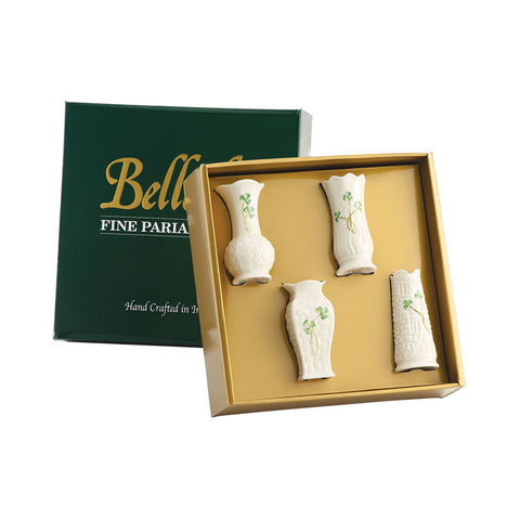 Belleek: Set of 4 Mini Vases - Hibernian Gifts