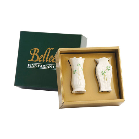 Belleek: Set of 2 Mini Vases - Hibernian Gifts