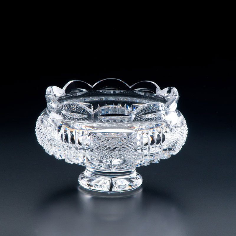 Heritage Irish Crystal: Georgian Footed Bowl (8in) - Hibernian Gifts