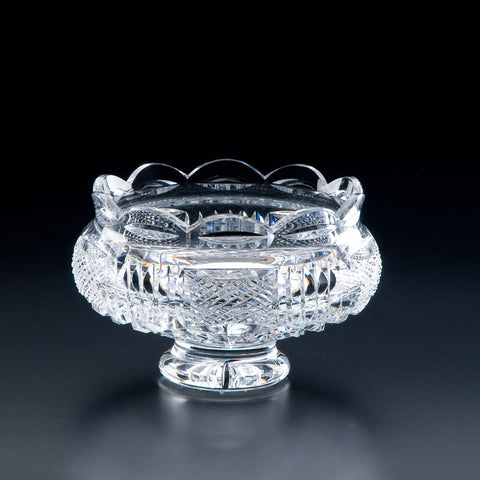Heritage Irish Crystal: Georgian Footed Bowl (7in) - Hibernian Gifts