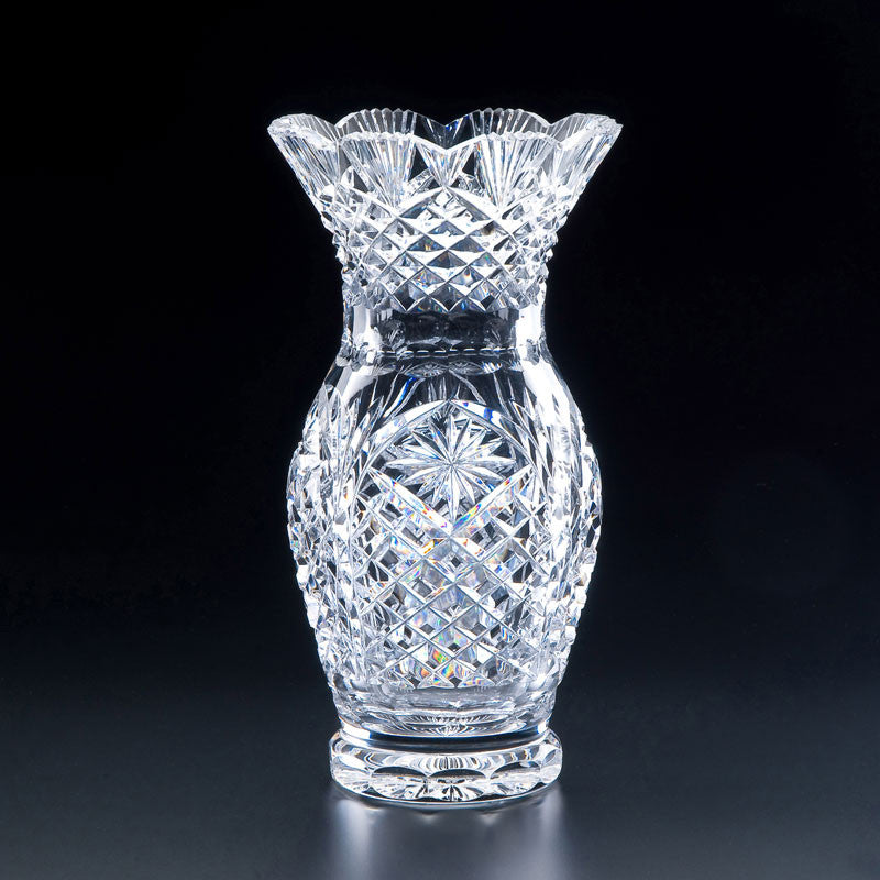 Heritage Irish Crystal: Heather Vase Limited Edition (12in) - Hibernian Gifts
