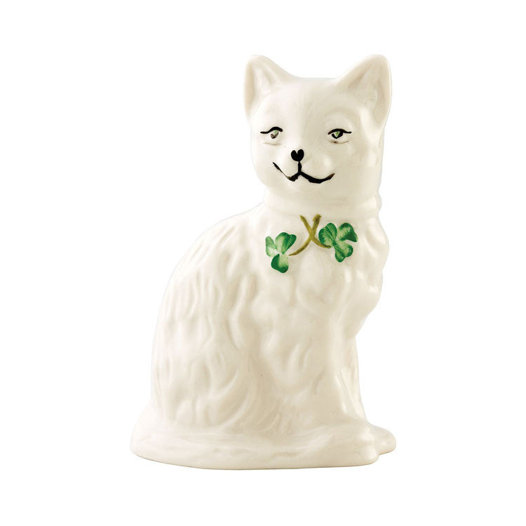 Belleek: Quizzical Cat - Hibernian Gifts