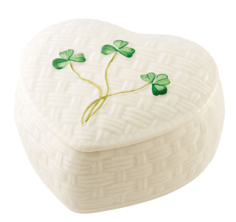 Belleek: Kylemore Trinket Box - Hibernian Gifts