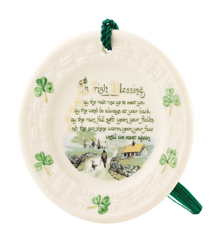 Belleek: Irish Blessing Ornament - Hibernian Gifts