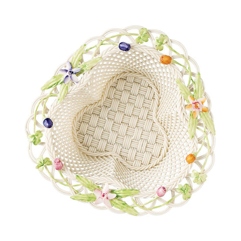Belleek: Flowers Of The Field Basket - Hibernian Gifts