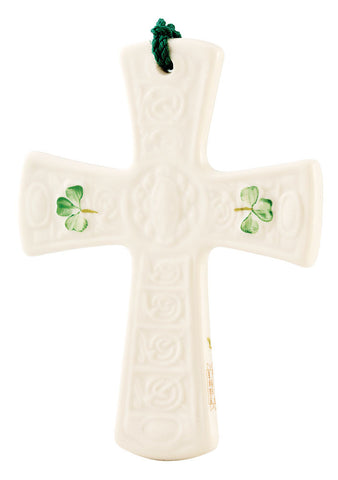Belleek: Saith Patrick's Cross Ornament - Hibernian Gifts