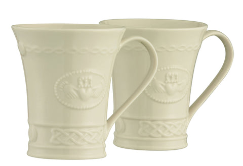 Belleek: Claddagh Mugs (Set of 2) - Hibernian Gifts