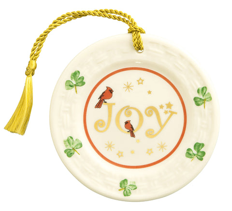 Belleek: Joy Plate Ornament (1st Edition) - Hibernian Gifts