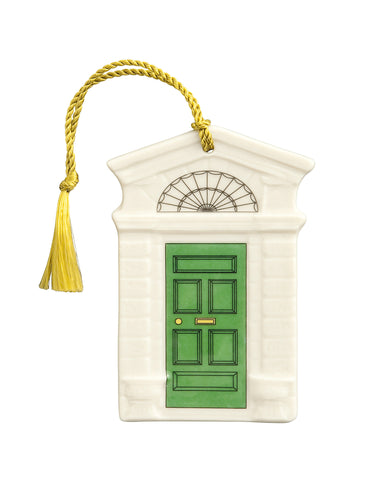 Belleek: Georgian Green Door Ornament - Hibernian Gifts