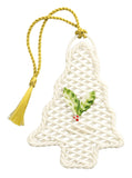 Belleek: Basket Christmas Tree Ornament