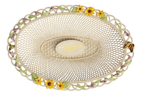 Belleek: Lavender and Sunflower Basket - Hibernian Gifts