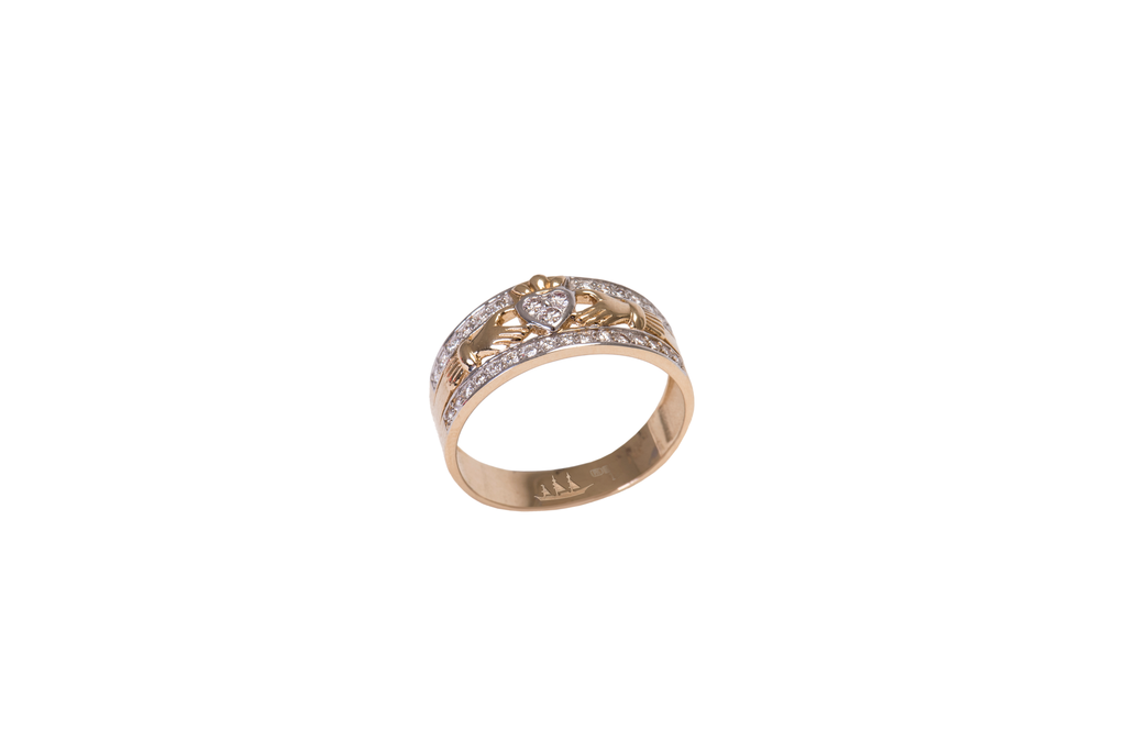 Emigration 14ct Gold & Diamonds Ring