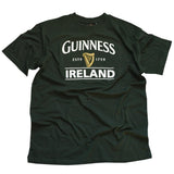 Guinness T-Shirt With Brewed In Dublin Bottle Label, Bottle Green Colour - Hibernian Gifts