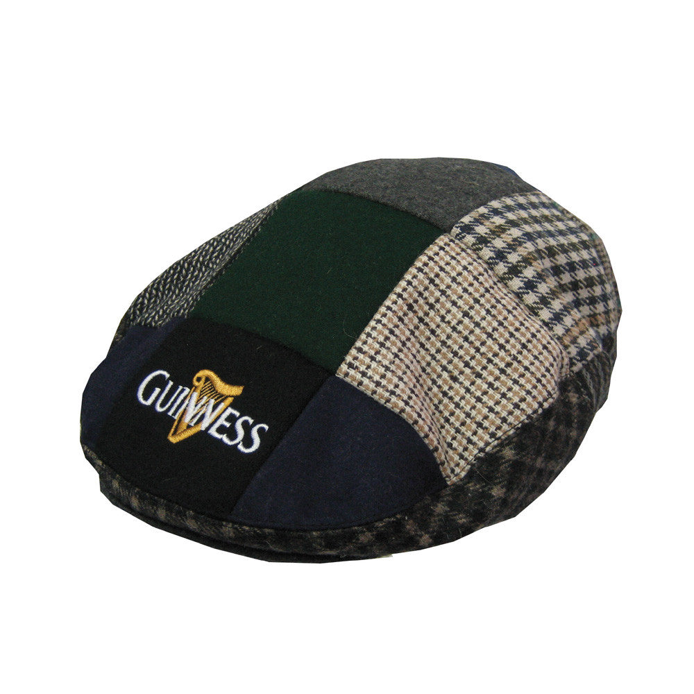 Guinness Patch Tweed Flat Cap - Hibernian Gifts
