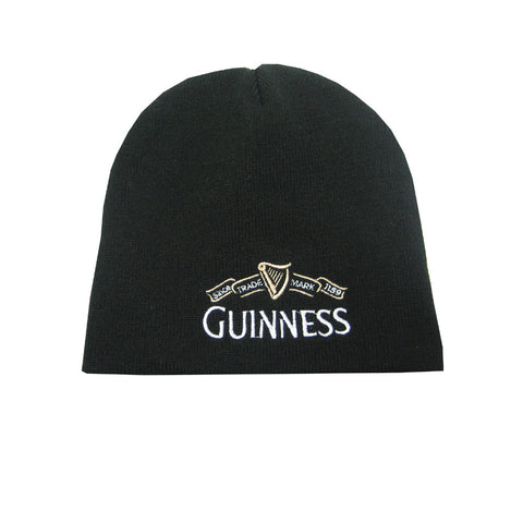 Guinness Beanie Hat With White Guinness Trademark Logo - Hibernian Gifts
