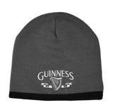 Guinness Beanie Hat With White Guinness Harp Logo, Grey Colour - Hibernian Gifts