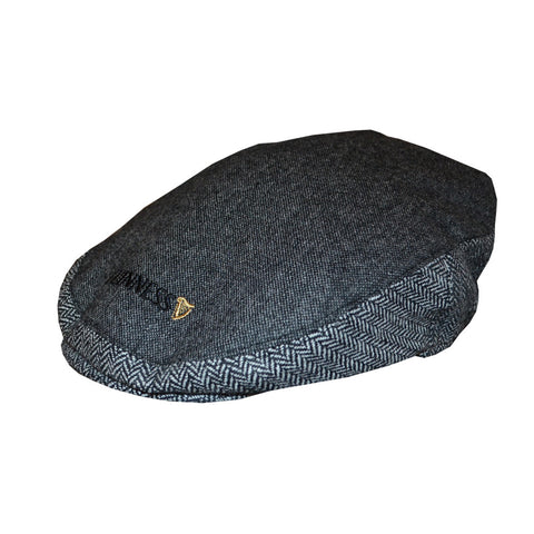 Official Guinness Grey Tweed Flat Cap - Hibernian Gifts