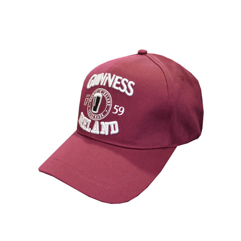Official Guinness Baseball Cap - Red - Hibernian Gifts