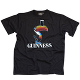 Guinness Toucan T-Shirt - Mens Black Guinness T-Shirt - Hibernian Gifts
