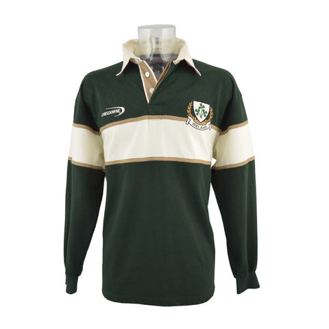 Ireland Striped Shamrock Rugby Shirt - Hibernian Gifts