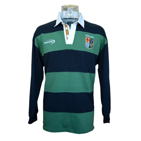 Lansdowne Long Sleeve Shirt with Four Irish Provinces Crest - Hibernian Gifts