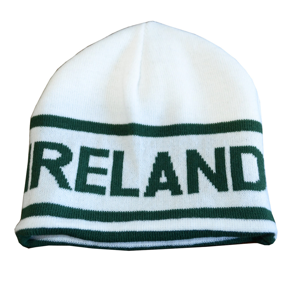 Reversible Ireland Beanie With Ireland Print - Hibernian Gifts - 1