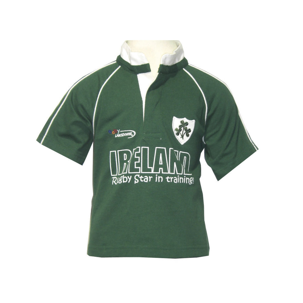 Kid's Ireland Rugby Star in Training With Ireland Print & Shamrock Crest - Hibernian Gifts