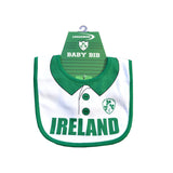 Baby Bib 'Ireland with Shamrock print crest.