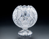 Heritage Irish Crystal:  Aran Islands Pedestal Rose Bowl: Limited Edition of 100