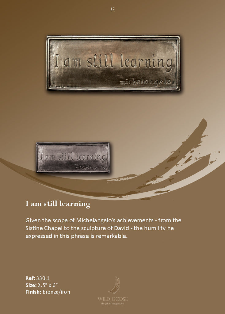 Wild Goose: I am still learning - Hibernian Gifts - 2