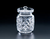 "Heritage Irish Crystal;  Cathedral Honey Jar 4"" - Hibernian Gifts"