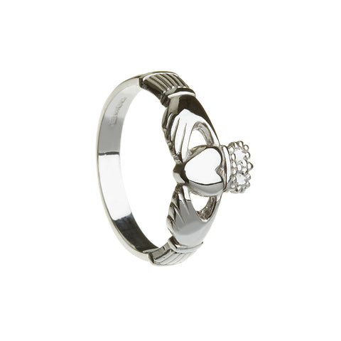 Silver Claddagh Medium/Heavy - Hibernian Gifts