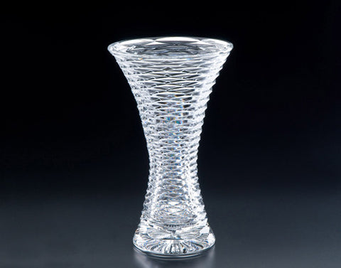 Heritage Irish Crystal: Cricklewood Tulip Vase (8in) - Hibernian Gifts