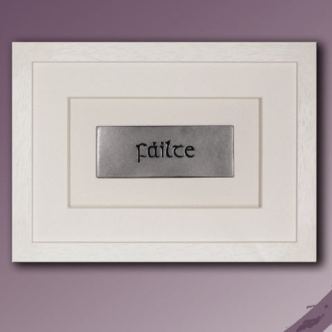 Wild Goose: Failte - Welcome (cream frame) - Hibernian Gifts - 1