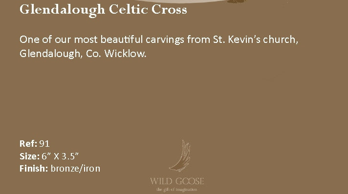 Wild Goose: Glendalough Celtic Cross - Hibernian Gifts - 4
