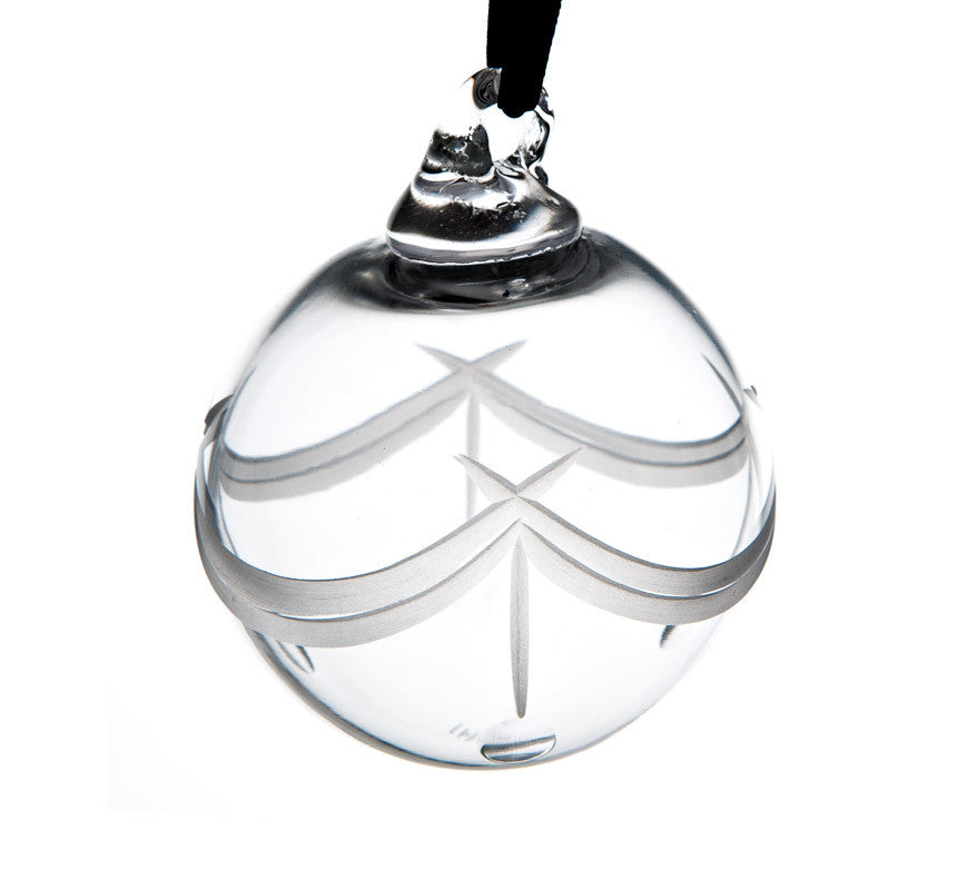 The Irish Handmade Glass Company: Morning Mist Bauble - Hibernian Gifts