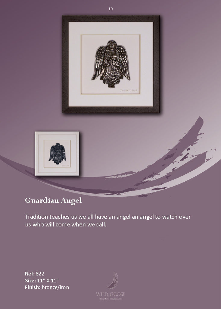Wild Goose: Guardian Angel (brown frame) - Hibernian Gifts - 2