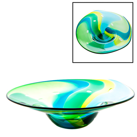The Irish Handmade Glass Company: Gathering Centrepiece Bowl - Hibernian Gifts