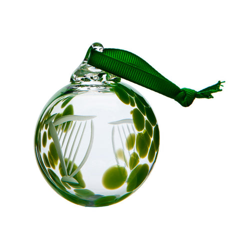 The Irish Handmade Glass Company: Harp Bauble - Hibernian Gifts