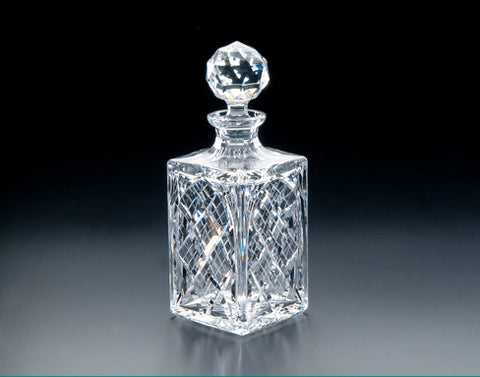 Heritage Irish Crystal:  Cathedral Square Decanter - Hibernian Gifts
