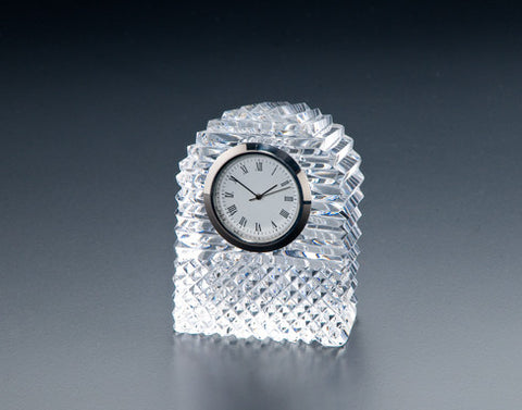 Heritage Irish Crystal:  Dome Clock - Hibernian Gifts