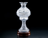 "Heritage Irish Crystal:  Kingfisher Lamp 17"" - Hibernian Gifts"
