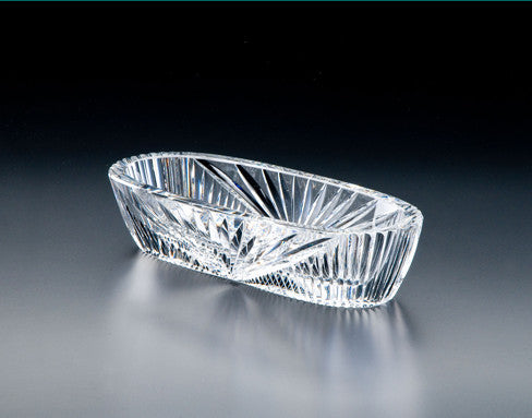 "Heritage Irish Crystal:  Oval Fruit Bowl 9"" - Hibernian Gifts"